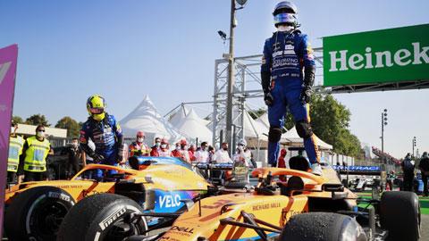 Daniel Ricciardo và Lando Norris vừa mang về chiến thắng đầu tiên cho McLaren sau 9 năm