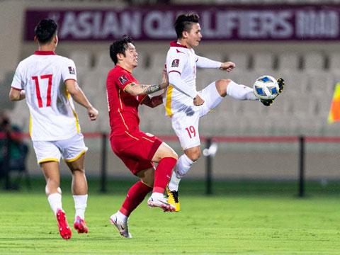 ĐT Việt Nam đã chơi tốt trước ĐT Trung Quốc (Nguồn: AFC)