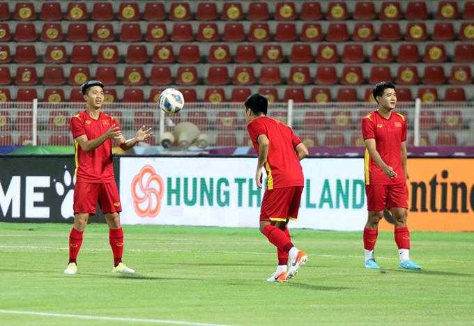 ĐT Việt Nam sẵn sàng cho trận gặp Oman. Ảnh: Nhật Đoàn/VFF
