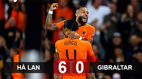 """Kết quả Hà Lan 6-0 Gibraltar: Vùi dập """"kho điểm"""""""