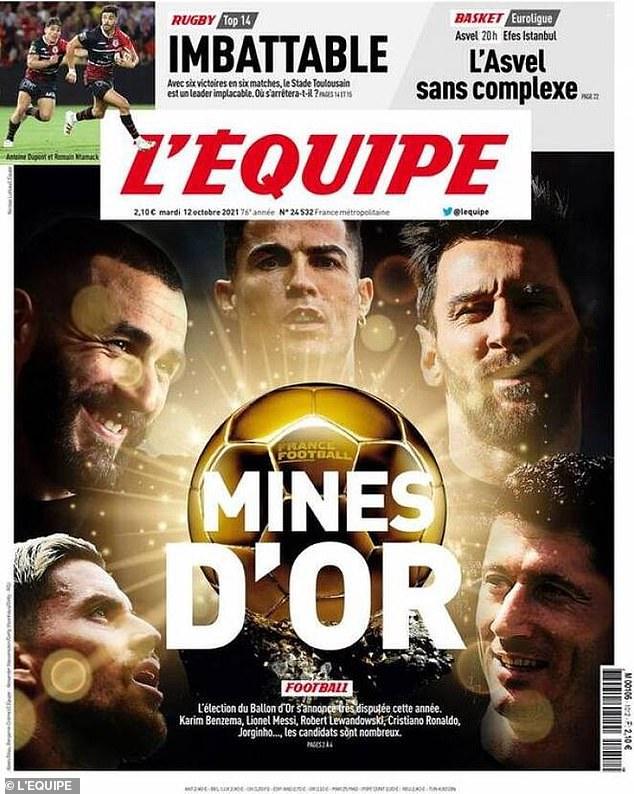 L'Equipe chọn ra top 5 Quả bóng Vàng 2021