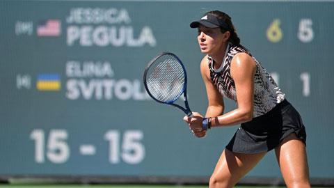 Con gái tỷ phú Mỹ Jessica Pegula vào tứ kết Indian Wells 2021