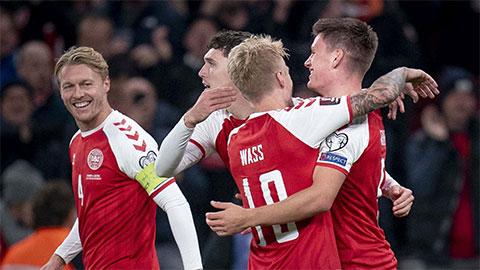 ĐT Đan Mạch trở thành đội châu Âu thứ 2 giành vé dự World Cup 2022