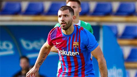 Aguero đã có bàn ra mắt không chính thức cho Barcelona