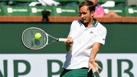 Daniil Medvedev bị loại trước tứ kết Indian Wells 2021