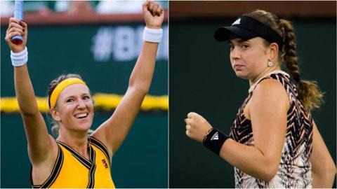 Victoria Azarenka đấu Jelena Ostapenko ở bán kết Indian Wells 2021