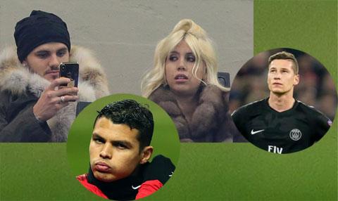 Các cầu thủ như Draxler, Icardi, Thiago Silva... đều nằm trong danh sách đám trộm cắp ở Paris