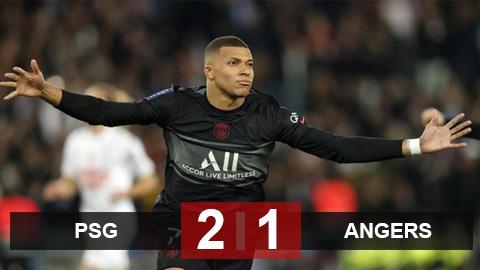 Kết quả PSG 2-1 Angers: Ngược dòng nghẹt thở