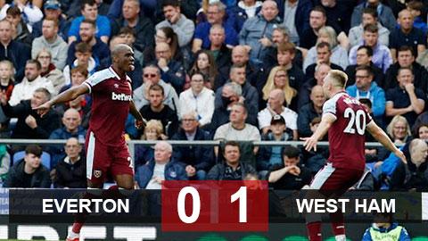 Kết quả Everton vs West Ham: Thua bạc nhược trên sân nhà, Everton mất vị trí thứ 6 vào tay West Ham
