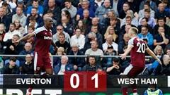 Kết quả Everton 0-1 West Ham: Thua bạc nhược trên sân nhà, Everton mất vị trí thứ 6 vào tay West Ham