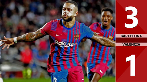 Barcelona vs Valencia: 3-1 (Vòng 9 La Liga 2021/22)