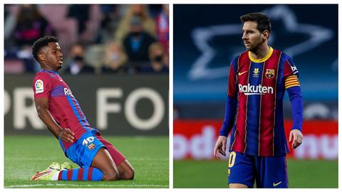 Ansu Fati đang làm tốt hơn Messi khi cùng độ tuổi