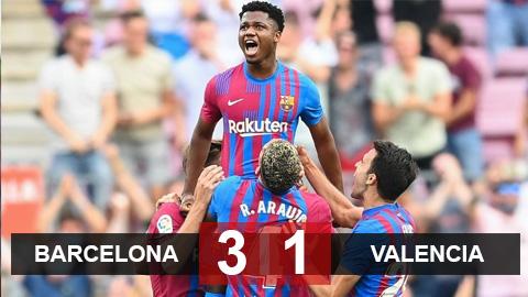 Kết quả Barcelona 3-1 Valencia: Fati & Coutinho lập công, Barca ngắt mạch thua