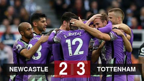 Kết quả Newcastle 2-3 Tottenham: Tottenham chiếm vị trí thứ 5 của Man United