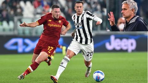 Vòng 8 Serie A 2021/22: Mourinho, 3 ngón tay và cơn tức giận của Juventini