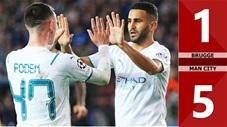 Brugge vs Man City: 1-5 (Vòng bảng Champions League 2021/22)