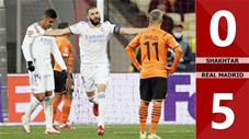 Shakhtar vs Real Madrid: 0-5 (Vòng bảng Champions League 2021/22)