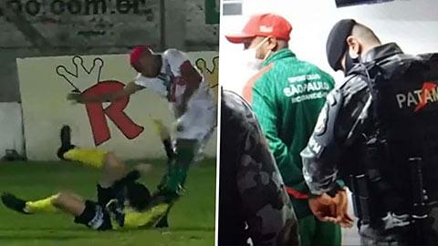 Cầu thủ hạ knock-out trọng tài bị cấm thi đấu hai năm