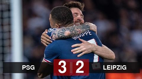 Kết quả PSG 3-2 Leipzig: Messi lập cú đúp đem về 3 điểm cho PSG