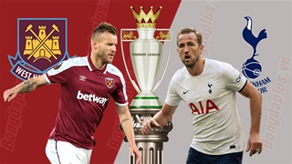 20h00 ngày 24/10, West Ham vs Tottenham