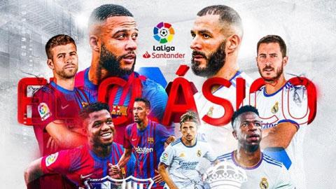 Xem trực tiếp trận El Clasico giữa Barcelona vs Real Madrid trên kênh nào?