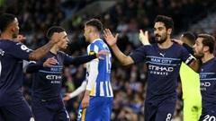 Trực tiếp bóng đá Brighton vs Man City, 23h30 ngày 23/10