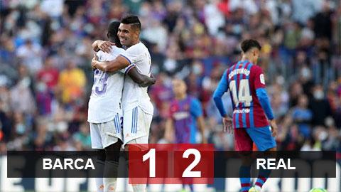 Kết quả bóng đá Barca vs Real Madrid: Aguero ghi bàn, Barca vẫn thua El Clasico