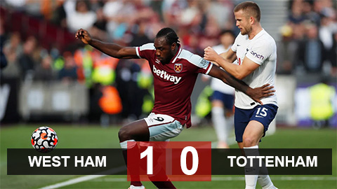 Kết quả bóng đá West Ham vs Tottenham: Antonio cắt tiết Gà trống
