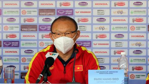 HLV Park Hang Seo không hài lòng với lối chơi của U23 Việt Nam