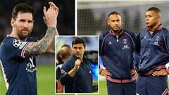 Neymar và Mbappe khó chịu vì Pochettino ủng hộ Messi giành Quả bóng vàng