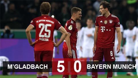 Kết quả Monchengladbach 5-0 Bayern: Đại địa chấn ở Borussia Park