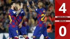 Barcelona 4-0 Sevilla(Vòng 8 La Liga 2019/20)